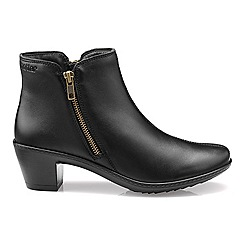 Hotter - Black 'Samia' zip fastening ankle boots