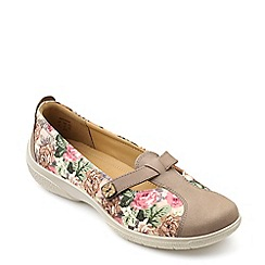 Hotter - Taupe 'Serenity' slip on summer shoes