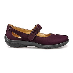 Hotter - Dark purple 'Shake' wide fit Mary Janes