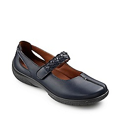Hotter - Navy ' Shake' extra  wide fit cross bar shoes