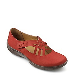 Hotter - Terracotta 'Sharon' interlaced touch close shoes