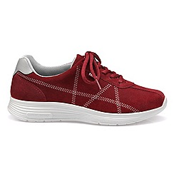 Hotter - Dark red 'Solar' lace-up trainers
