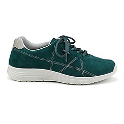 Hotter - Dark green 'Solar' lace-up trainers