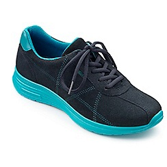 Hotter - Blue suede 'Solar' lace up trainers
