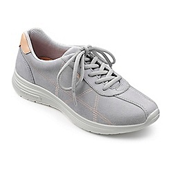 Hotter - Grey suede 'Solar' lace up trainers