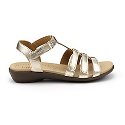 Hotter - Light gold 'Sol' wide fit gladiator sandals