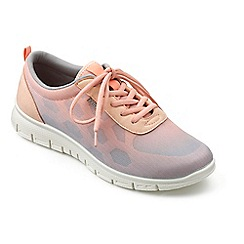 Hotter - Light peach 'Stellar' lace up trainers