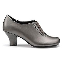 Hotter - Metallic leather 'Stephanie' heeled shoes