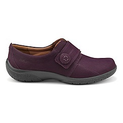 Hotter - Plum 'Sugar' wide fit touch close shoes