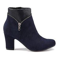 Hotter - Navy 'Vanity'mid heel ankle boots