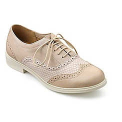 Hotter - Cream leather 'Village' brogues