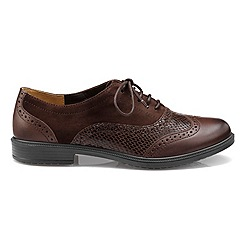 Hotter - Chocolate 'Village' lace up brogues