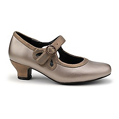 Hotter - Bronze leather 'Valetta' Mary Janes