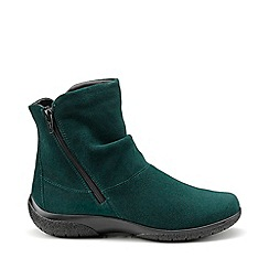 Hotter - Dark green leather 'Whisper' ankle boots