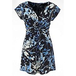 Grace - Blue floral tunic top