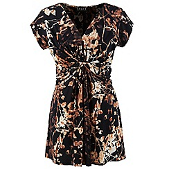 Grace - Gold floral tunic