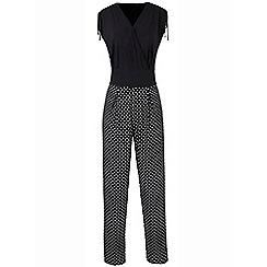 Grace - Black spot jumpsuit