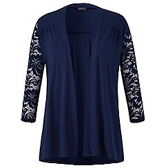 Grace - Navy lace sleeves cardigan