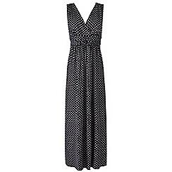Grace - Black spot maxi dress