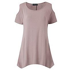 Grace - Mink cold shoulder t-shirt