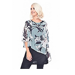 Grace - Green floral print tunic