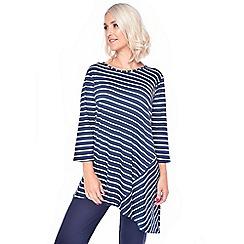 Grace - Navy striped tunic