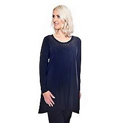 Grace - Black studded round neck tunic