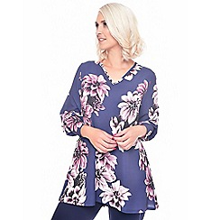 Grace - Purple floral print top