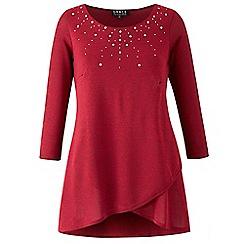 Grace - Berry studded knit tunic top