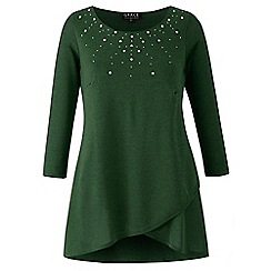 Grace - Green studded knit tunic top