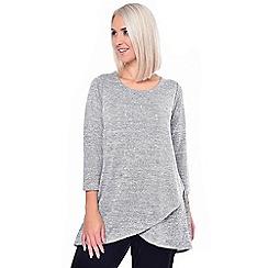 Grace - Grey studded knit tunic