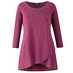 Grace - Mauve studded knit tunic