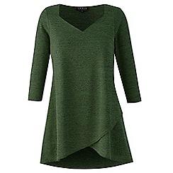 Grace - Olive knit tunic top