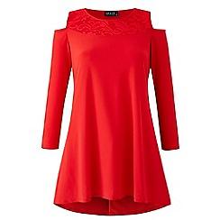 Grace - Berry cold shoulder tunic top