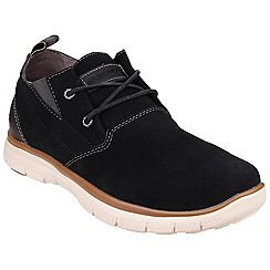 Skechers - Black 'Hinton Franken' casual sporty lace up trainer