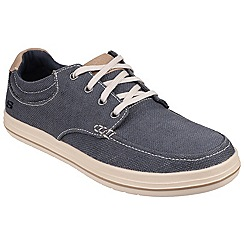 Skechers - Navy 'Define Soden' casual lace up shoe