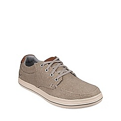 Skechers - Khaki 'Define Soden' casual lace up shoe