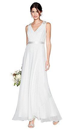 Wedding dresses debenhams debut ivory chiffon gemima v neck full length wedding dress junglespirit Gallery