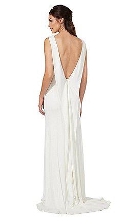 Ben De Lisi Occasion  - 象牙色澤西'Jessica'領口式結婚禮服