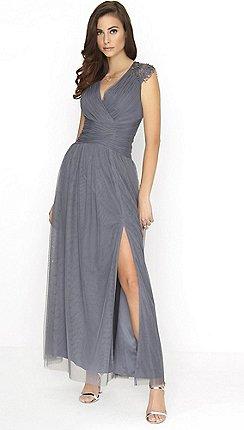 Little Mistress Slate Maxi Dress