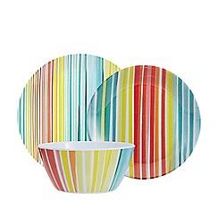 Ben de Lisi Home - Multi-coloured 'Melamine Stripe' range