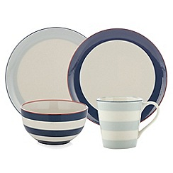 J by Jasper Conran - Designer stoneware striped 'Breakfast' range