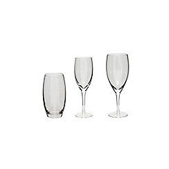 Denby - Denby grey 'Lustre' glassware range