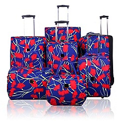Tripp - Tripp Poppy 2-Wheel Suitcase range in Indigo/Coral