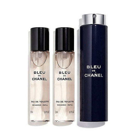 CHANEL - BLEU DE CHANEL Eau De Toilette Refillable Twist & Spray 3 x 20ml
