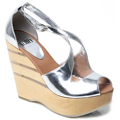 Silver Hazia raffia wood sandals - Platforms & wedges - Shoes & boots - Womens - Debenhams