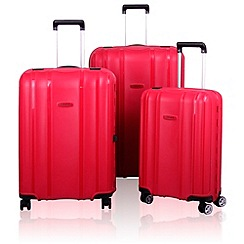 Tripp - Shield 4-Wheel Suitcase range in Berry