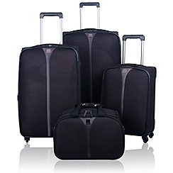 Tripp - Superlite 4-wheel Suitcase Range in Black