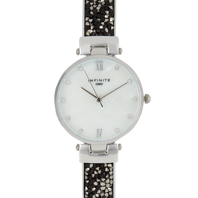 7d0c9646cf Infinite - Silver Plated Diamante Embellished Analogue Watch