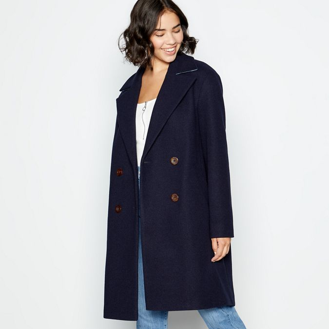 Navy Double Breasted Coat by Red Herring